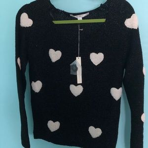 Blacks and White Heart Sweater